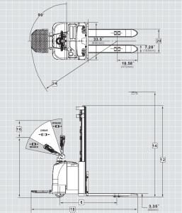 """למשקל 1400 קג T 14 1 257x300 - מלגזונים למשקל 1400 ק""""ג  T-14"""