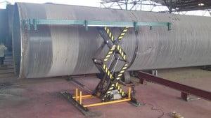 במת הרמה 1000 קג הספקה למפעל לצינורות 1