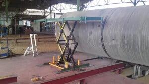 במת הרמה 1000 קג הספקה למפעל לצינורות 2