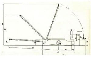גק הידרופנאומטי על עגלה דגם I101 1 300x191 - ג'ק הידרופנאומטי על עגלה דגם I101