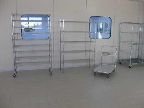 כלובים ומדפי רשת לחדרים נקיים