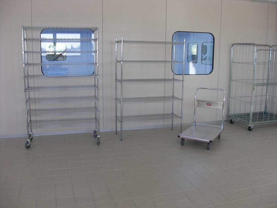 כלובים ומדפי רשת לחדרים נקיים - כלובים ומדפי רשת לחדרים נקיים