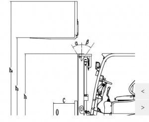 מלגזה חשמלית 2000 קג דגם FE3D20AC 2 300x246 - מלגזה חשמלית 2000 קג-FE3D20AC