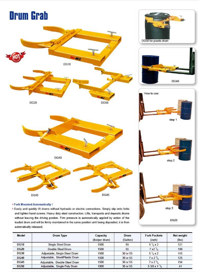 מתקן הרמת 2 חביות על ידי מלגזה GR105