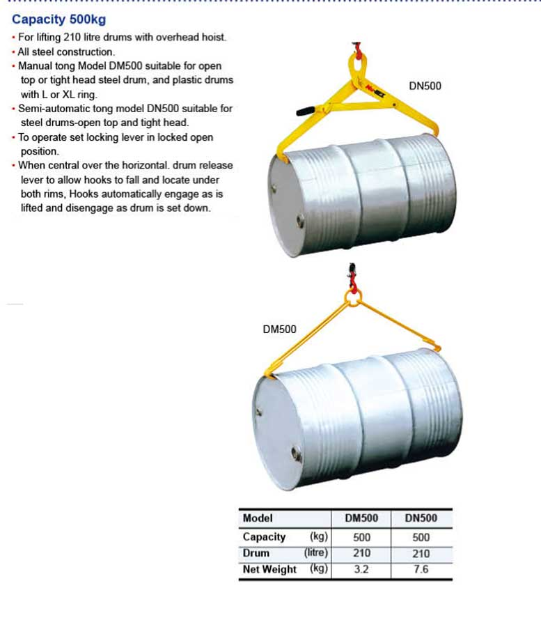 מתקן להרמת חביות עם שרשרת אופקי אנכי GR108