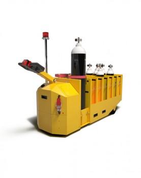 עגלה חשמלית להעברת בלוני חמצן  Gas Bottle Mover