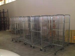 עגלות כלוב עומס מקסימלי 500 קג - Roll Container C100 1