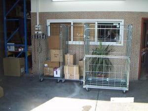 עגלות כלוב רשת דלת קורסת C-108 Roll Container 1