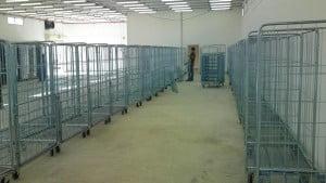עגלות כלוב רשת דלת קורסת C-108 Roll Container 3