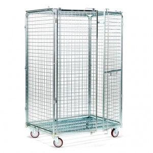עגלות כלוב רשת מאובטח גדול Security trolley C-116 2