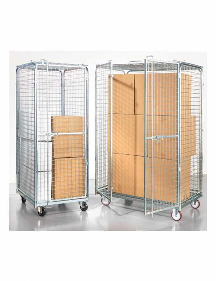 עגלות כלוב רשת מאובטח גדול Security trolley C