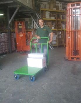 עגלות פלטפורמה למשקל של 400 קג הספקה רשת מזון