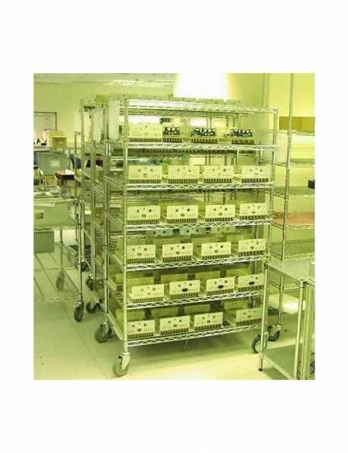 עגלות ציפוי כרום ניקל לחדר הייטק T