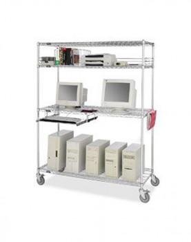 עגלות רשת ציפוי כרום ניקל עמדת מחשב T110