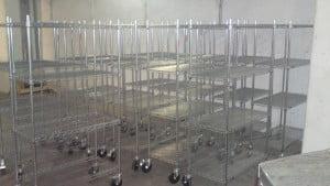 עגלות רשת ציפוי כרום ניקל - T100