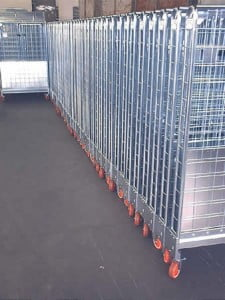 עגלת כלוב רשת מתקפל ארוך C-110 2