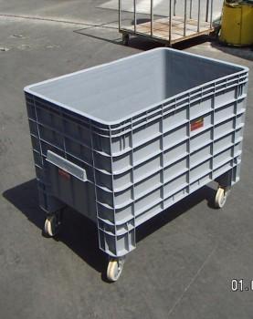 עגלת מיכל 270 ליטר כולל גלגלים הספקה ללקוח-F111