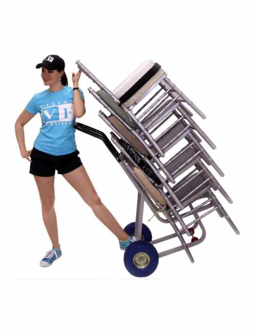 עגלת משא להרמת כיסאות