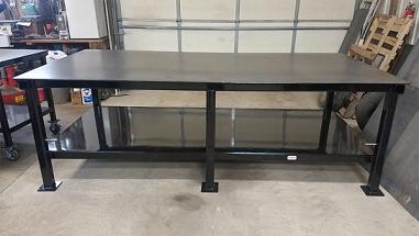 שולחן עבודה מדף תחתון