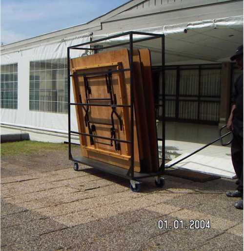 עגלת כלוב להובלת שולחנות לאירועים TS100