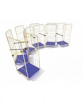XrissXcross roll cage towing systemמתקן לחיבור כלובים בשרשרת
