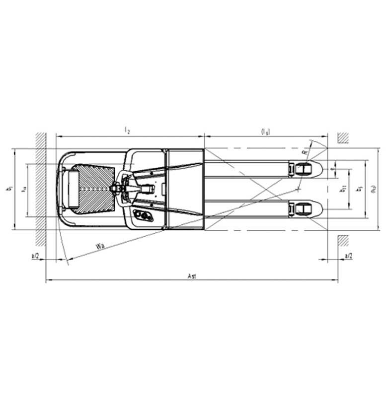 עגלה חשמלית אדם רוכב PT 20PLUS מפרט - עגלת משטחים אדם רוחב דגם  PT 20PLUS