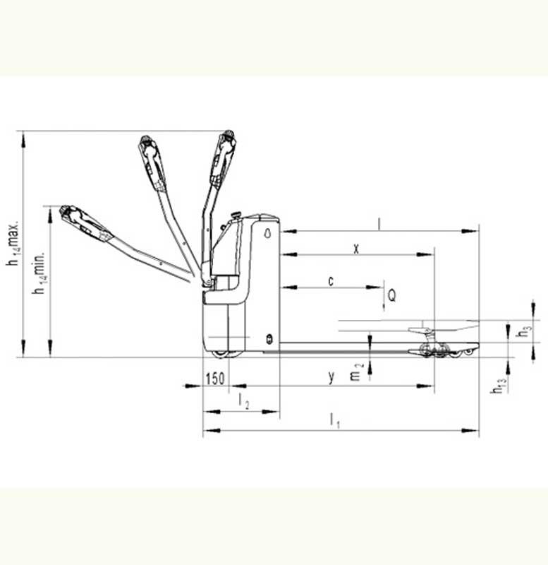 """מפרטים לעגלת משטחים חשמלית 1200 ק""""ג דגם-PT 12Li Noblelift"""