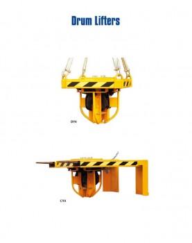 מתקן הרמת ארבע חביות על ידי מלגזה עגורן