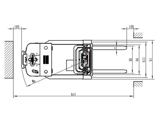 PS 15CB מלגזה אדם הולך מפרט - מלגזה משקל נגדי - ש.ב שינוע PS 15CB