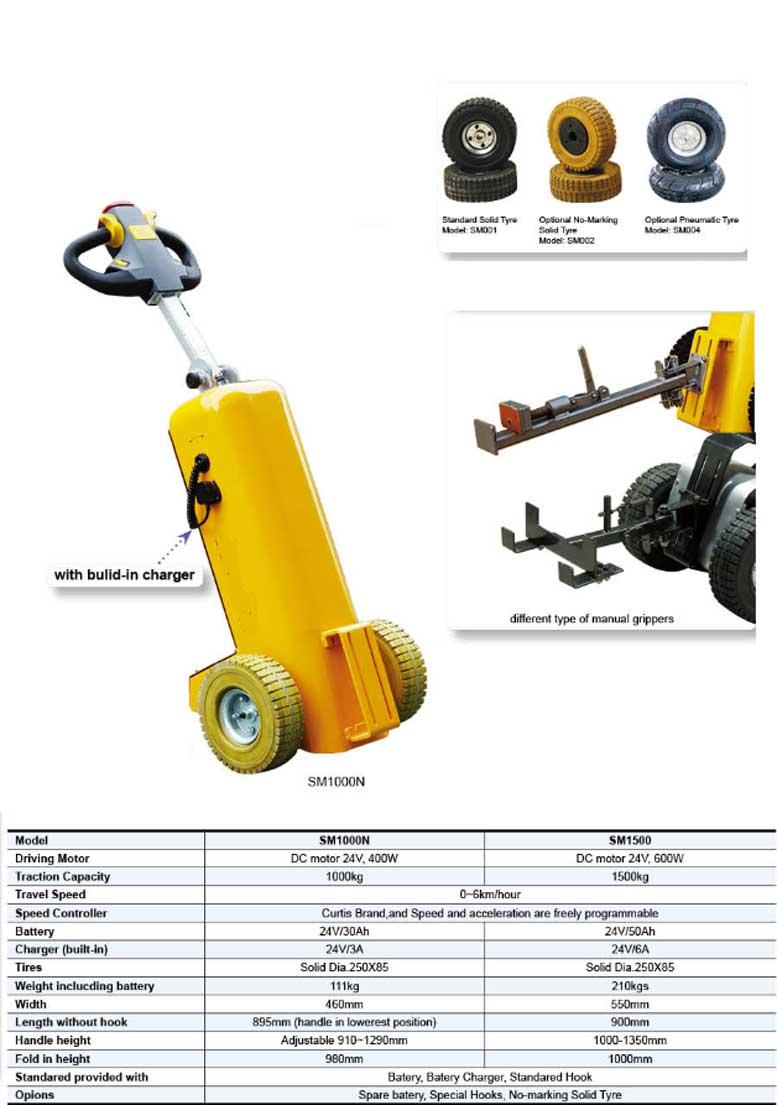 SM1000N פושר חשמלי למשקל 1 טון דגם - פושר חשמלי גורר מושך למשקל 1 טון דגם -SM1000N