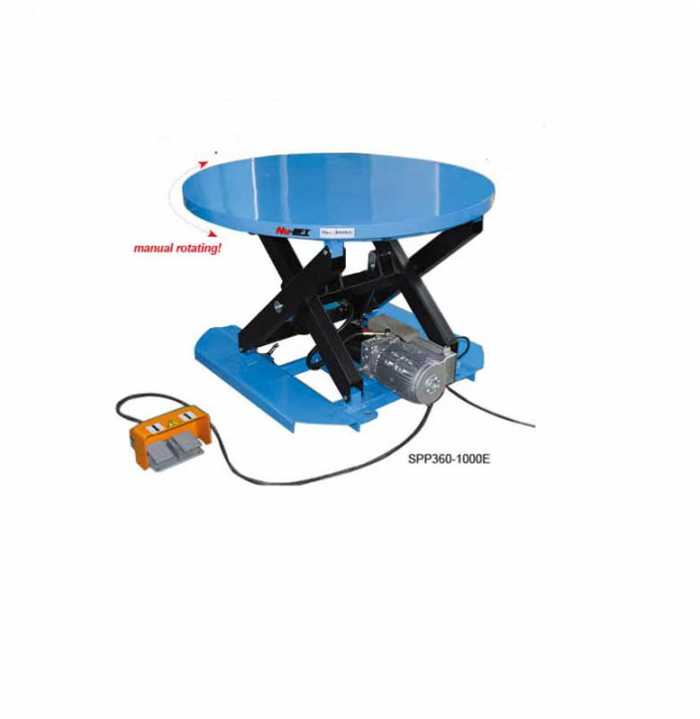 SPP E שולחן הרמה חשמלי פלטה עגולה מסתובבת דגם תמונה