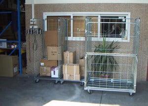הספקת עגלות כלוב רשת למחסן לוגיסטי