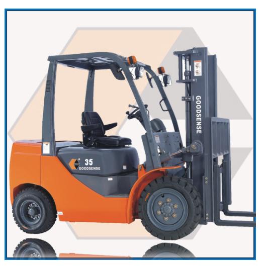 מלגזה 3.5 טון מנוע איסוזו - מלגזה דיזל מנוע ISUZU למשקל 3.5 טון