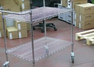 עגלות רשת ציפוי כרום ניקל הספקה למחסן מחשבים