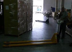 עגלת משטחים אורך  סמ למפעל לפלסטיק