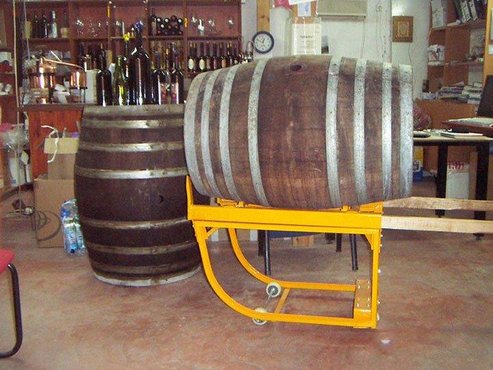 עגלת שינוע חביות יין ST100 1 - עגלת שינוע חביות יין ST100