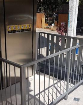 התקנת מעלון אנכי כולל שערים