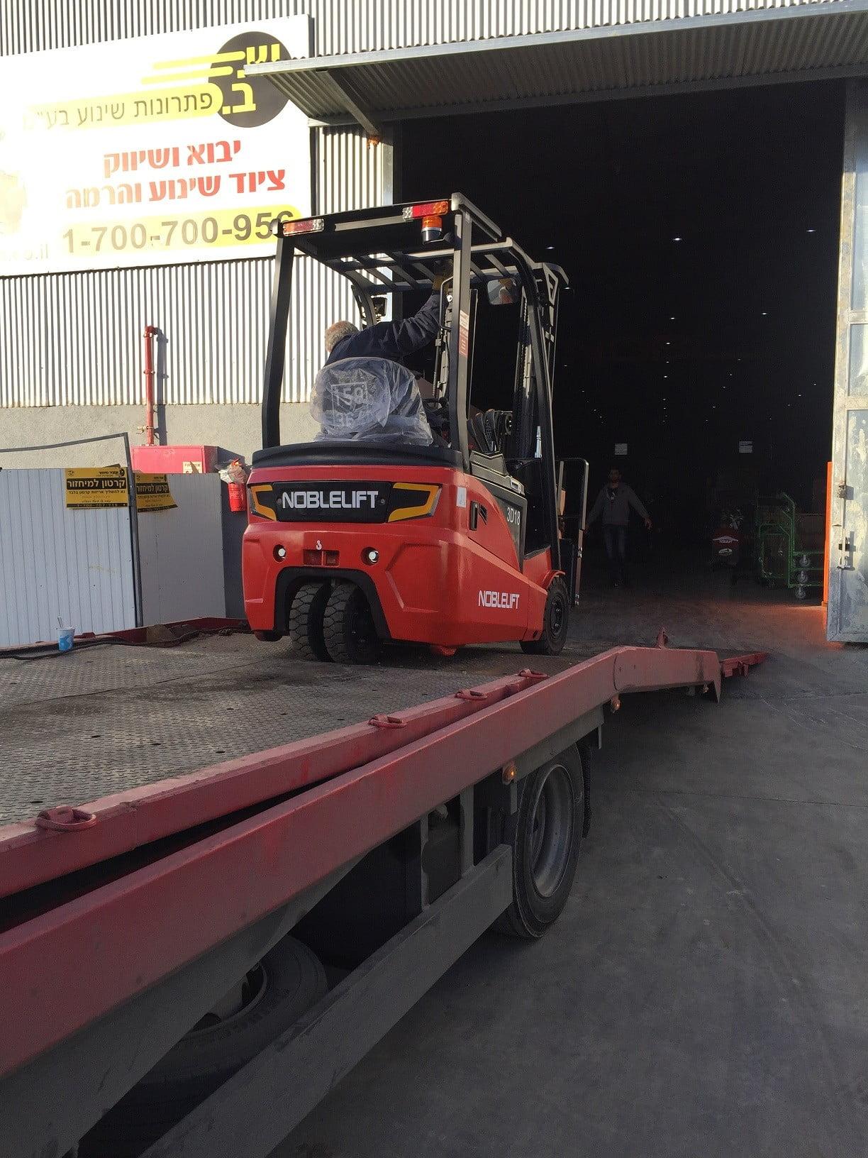 חשמלית שלש גלגלים 1.8 טוןאספקה ללקוח לאספקת מזגנים e1515749951773 - מלגזה חשמלית 1.8 טון אספקה למשווק מזגנים