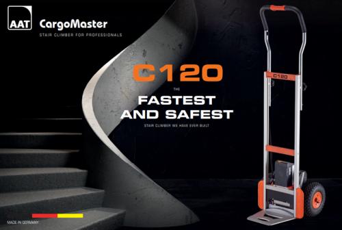c120 1 500x336 - עגלת משא חשמלית לטיפוס מדרגות דגם C120V