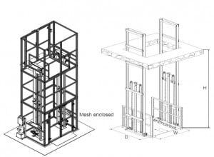 goods lift 3t 300x220 - מעלית משא 3טון